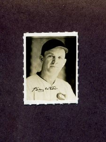 1935-1937 George Burke Photo Stamp BILLY WEBB Chicago White Sox