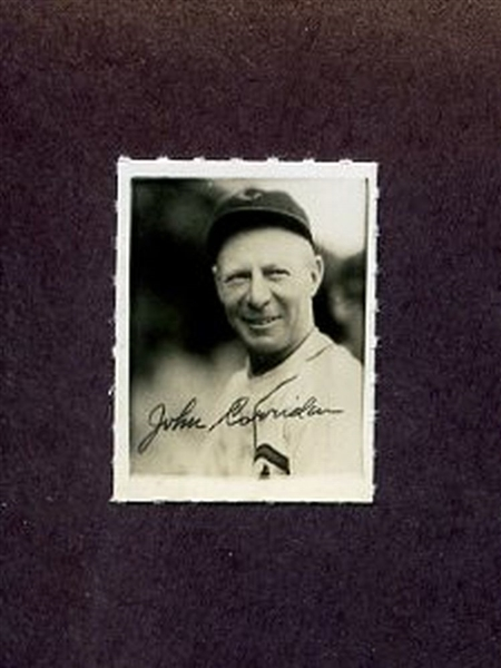 1935-1937 George Burke Photo Stamp RED CORRIDEN Chicago Cubs